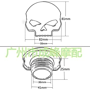 Motorcycle CNC Aluminum Skull Eye Fuel Gas Tank Oil Cap for Harley Davidson Sportster XL 1200 883 X48 Dyna Softail FXD FL XL FLT Big Twin Touring Road King Silver