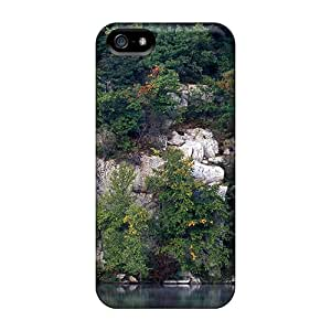 New Fashion Premium Tpu Case Cover For Iphone 5/5s - Lake In The Forest