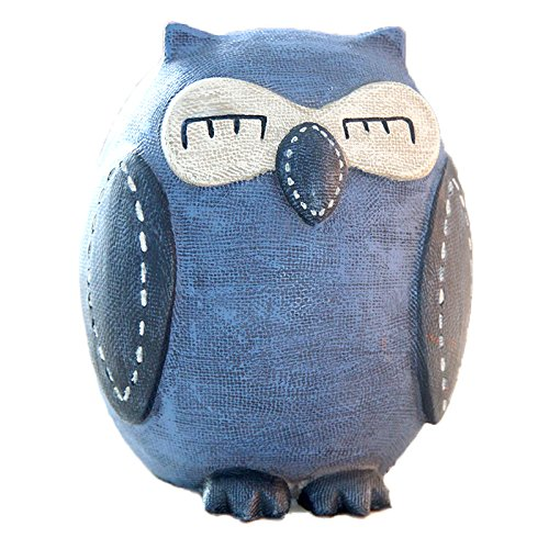 Eastyle Owl Child Piggy Bank for Kids Money Bank Toy Savings/Coin/Money Box Creative Cute Wedding Birthday Gift Blue