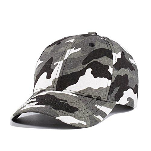 Llxln Hombres Y Mujeres Gorra Camuflaje Hat Gorras Militares Hombre Ajustable Tapas Snapbacks,Blanco Y Gris.: Amazon.es: Deportes y aire libre