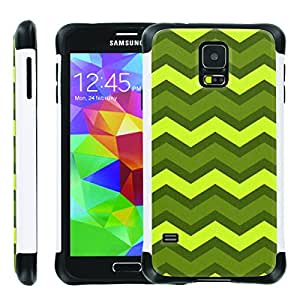 [ManiaGear] SLIM Rugged Hybrid Image Protector Cover (All You Can Chavron) for Samsung Galaxy S5