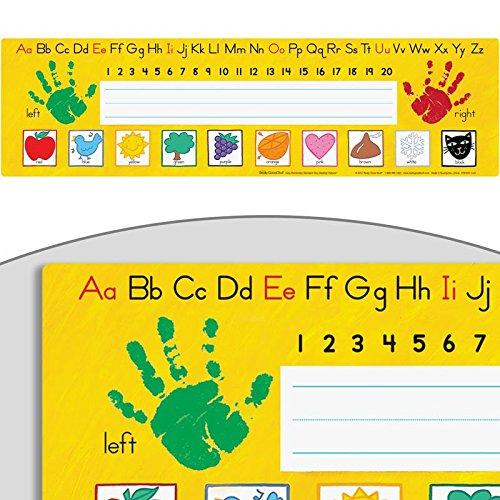 Pre-K- Kindergarten Desktop Helpers -Self-Adhesive (Self Adhesive Handprints Name Tags)