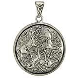 Sterling Silver Celtic Knot Triskelion Horse Pendant Jewelry
