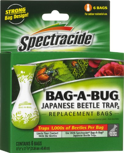 Spectracide Bag-A-Bug Japanese Beetle Trap2, Replacement Bags, 6-Count