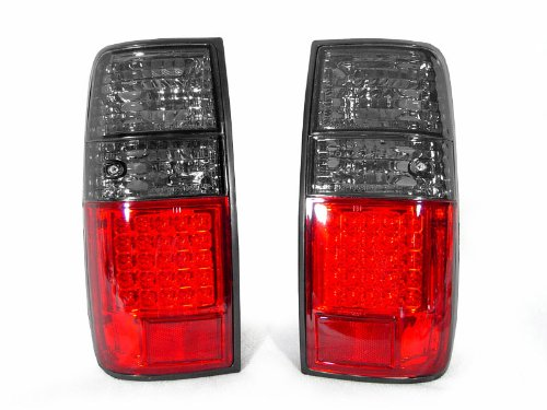 DEPO 1991-1997 Toyota Land Cruiser FJ80 / 1995-1997 Lexus LX450 Red/Smoke LED Tail Light Set