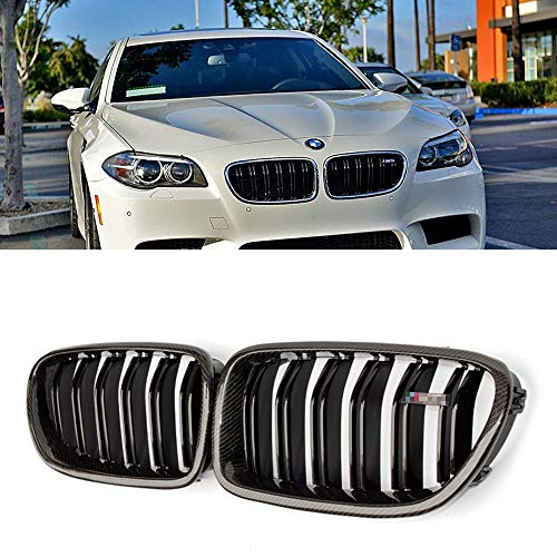 Mosion Auto For BMW 5 Ser F10 520i 528i & F10 M5 Carbon Fiber Front Grill Grille 2010-2017