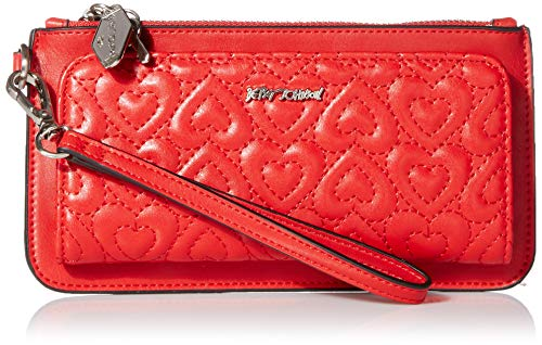 Betsey Johnson In Stitches Wallet, Red (Betsey Johnson Handbags Red)