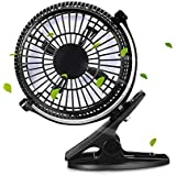 USB Powered Clip-On Mini Desk Fan 360° Rotatable Ultra-Compact Personal Electric Fan for Home Office & Travel