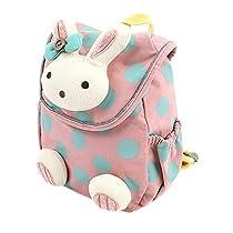 HBF Mini Babyrucksack Kindergartenrucksack Kindergartentasche Backpack Schultasche Kinder mehr Sicherheit(rosa)