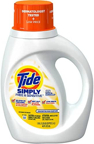 Laundry Detergent: Tide Simply Free & Sensitive