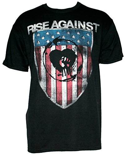 Authentic RISE AGAINST American Shield Logo T-SHIRT S M L XL NEW