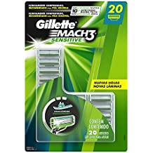 Carga Gillette Mach3 Sensitive, 20 unidades