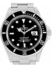 men s certified pre owned watches rolex submariner automatic self wind mens watch 16610 certified pre owned