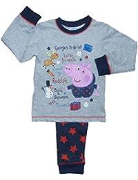 Boys George Pig Christmas Pajamas 18-24m 2-3y 3-4y 4-