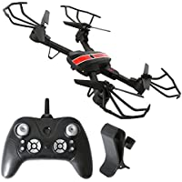 2.4GHz Six Gyro Foldable Drone FYD-FPV WIFI Real-Time Video Remote Controlled Rechargeable Quadcopter Pocket Aircraft with HD Camera (Black and Red-720P-FQ24)