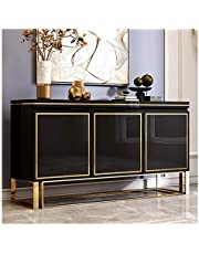 Kitchen Storage Sideboard,Sideboard for Living Roo Wood Buffet Storage Cabinet Living Room Sideboard Accent Table Free Standing Kitchen Server Cupboard Chest Storage Cupboard for Dining/Living Room/Ki