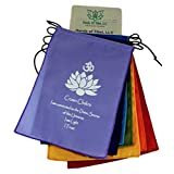 Small Seven Chakra Prayer Flags Banner Wall Hanging