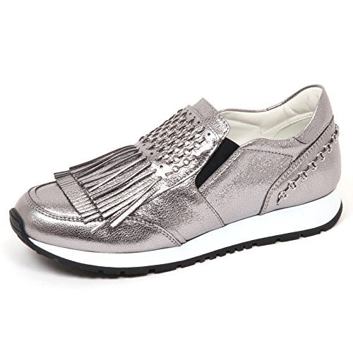 E5168 Sneaker Donna Platinum Tod's crepato Cracked Effect Shoe Slip on Woman Platino