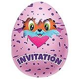 Unique 59314 Hatchimals Party Invitations, 8 Count