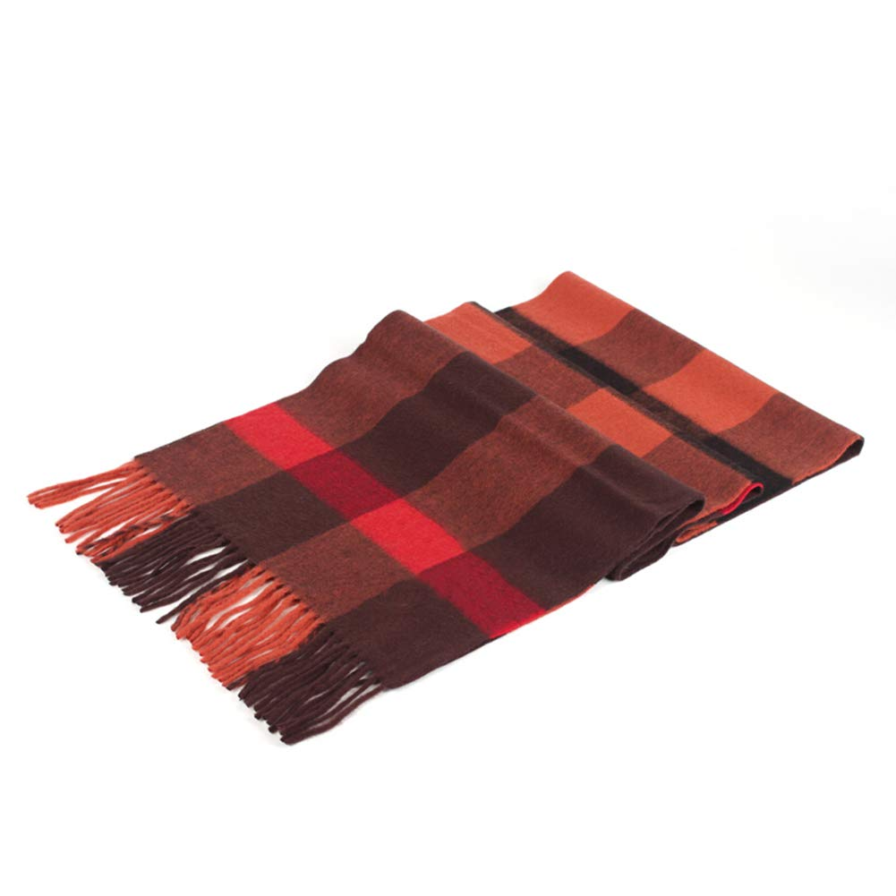 A43 Long Scarves Wrap Shawl Long Stole Thick Style Scarf Headscarf Neck Wrap Stole MufflerAutumn and Winter Female Lattice Long Section Couple Scarf HENGXIAO (color   A41, Size   200  40cm)