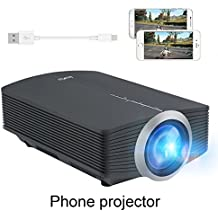 Plug and Play Projector, DeepLee DP510 Video Projector support iPhone Android Smartphone by USB Cable with USB HDMI AV VGA SD for PC Laptop Xbox PS4 DVD Player Video Game Movie Mini Projector