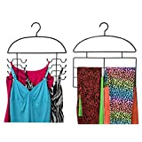 Axis 8245 Leggings/Yoga/Stretch Pants & Tank Top/Cami Closet Organizer Hanger 2/Pc Set Organizer Combo Hanger Set