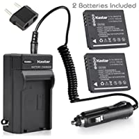 Kastar Battery (2-Pack) and Charger for Panasonic DMW-BCF10 A59 & Lumix DMC-FS12 FS15 FS25 FS4 FS42 FS6 FS7 FX40 FX48 FX500 FX550 FX580 F2 F3 FH1 FH20 FH22 FH3 FT3 FT4 FX68 FX700 FX75 TS1 TS2 TS3 TS4