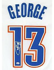 Paul George Oklahoma City Thunder Signed Autographed White #13 Jersey PAAS COA