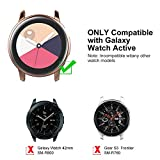 [2 Pack] UMTELE Compatible for Samsung Galaxy Watch Active Case, TPU Screen Protector Scratch-Resist Frame Protective Cover for Samsung Galaxy Watch