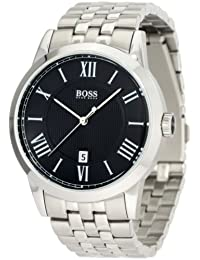 Hugo Boss Black Dial Stainless Steel Mens Watch 1512428 Advantages