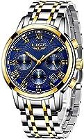 LIGE Mens Watches Waterproof Chronograph Stainless Steel Analog Quartz Watch Men Luxury Brand Fashion Dress Business...