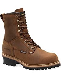 Men's Carolina 8 inch 600 Grams Thinsulate Insulated Steel Toe Logger Boots Copper
