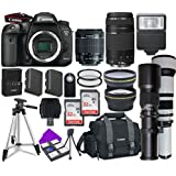 Canon EOS 7D Mark II Wi-Fi Digital SLR Camera Bundle with Accessory Lens Kit