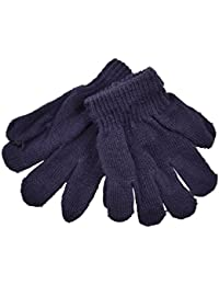 Kids Gloves Magic Knit Gloves for Girls/Boys Solid Colors