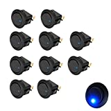 Etopars 10 X Car Vehicle Truck Rocker Toggle LED Switch Blue Light On-off Control 12V 16A