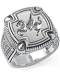 Men's 925 Sterling Silver Pegasus Ring, Size 10