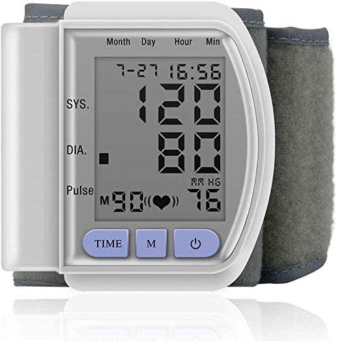 YUIOLIL Wrist Blood Pressure Monitor,Portable Blood Pressure Test Monitor with Heart Rate,Automatic Digital Large LCD Screen Display Parents are More Convenient