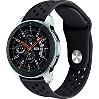 Pulseira Sport para Samsung Galaxy Watch 46mm - Gear S3 Frontier - Gear S3 Classic - Preto Total - Marca Ltimports