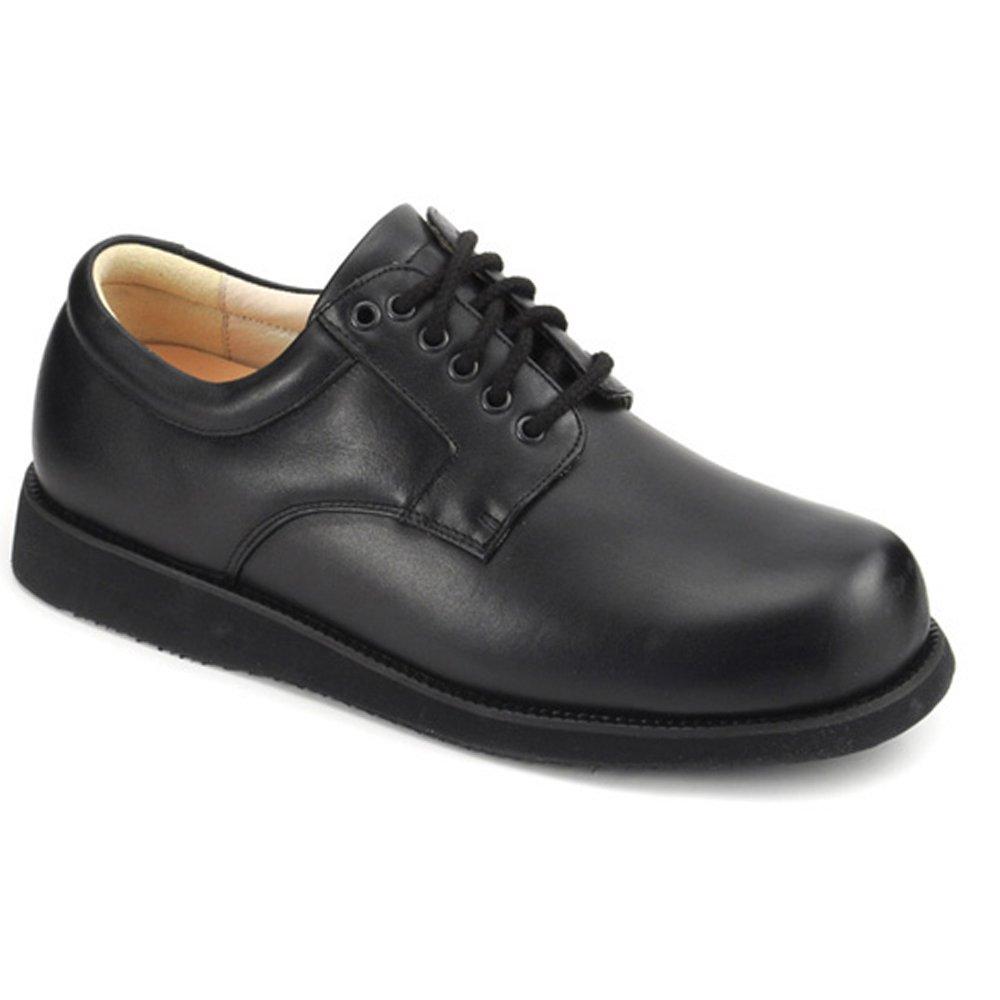 Apis Mt. Emey 9501 Men's Therapeutic Extra Depth Shoe Leather Lace 13.0 XX-Wide (6E) Black Lace US Men|Black