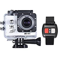 16MP 170 Degre Wide-Angle Wi-Fi Sports Action Camera with 32GB Memory White