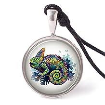 Vietguild's Colorful Animals Necklace Pendants Pewter Silver