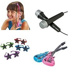 Rockstar Rock N Roll Toy Party Favor Supplies Set for 12 Bundle 48 Pieces Guitars Microphones Sunglasses