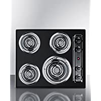 Summit TEL03 Kitchen Electric Cooktop, Black