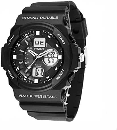 Cool Waterproof Digital Analog Sports Watches For Age 7-15 Years old Boys Girls Youth Black