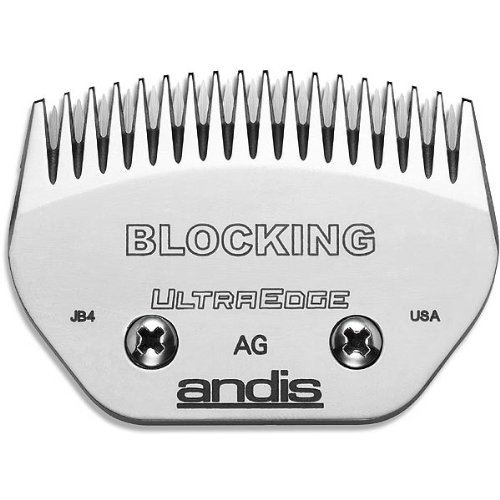 Andis Carbon-Infused Steel UltraEdge Blocking Dog Clipper Blade, Blocking, 5 64-Inch Cut Length (64335)