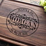 Round Vintage Personalized Engraved Cutting Board- Wedding Gift, Anniversary Gifts, Housewarming Gift,Birthday Gift, Corporate Gift, Award, Promotion #010