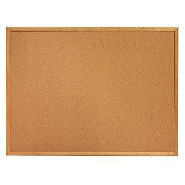 Quartet Cork Bulletin Board, 4 x 3 Feet, Corkboard, Oak Finish Frame (304)
