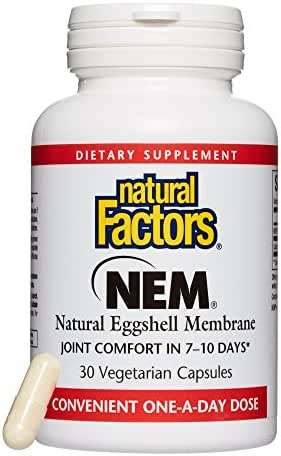 Natural Factors, NEM Natural Eggshell Membrane, Promotes Joint Comfort and Flexibility with Collagen, Chondroitin and Hyaluronic Acid, 30 capsules (30 servings)