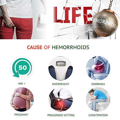 Reejoys Hemorrhoid Cream, Hemorrhoid Treatment, Hemorrhoid & Fissure Ointment, Fast Relief Hemorrhoid Cream Healing Formula, Hemorrhoid Ointment