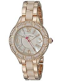 Betsey Johnson Women's BJ00557-03 Analog Display Quartz Rose Gold Watch